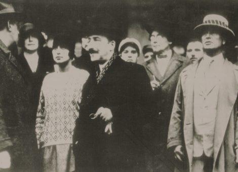 Выдающийся австрийский писатель Стефан Цвейг в Москве. 1928 год.