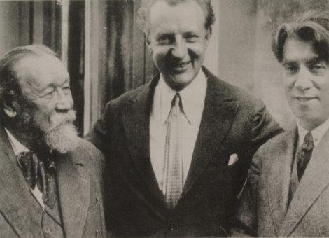 Британский и американский дирижёр Леопольд Стоковский с советскими композиторами Рейнгольдом Глиэром и Михаилом Ипполитовым-Ивановым.