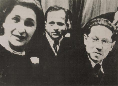 Немецкий писатель Лион Фейхтвангер на вечере-встрече с советскими читателями. Москва, 1937 год.